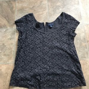 Aeo lacey short sleeve top